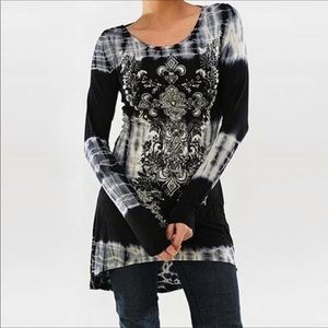 Tie dye knit tunic /minidress